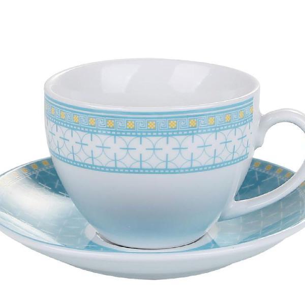 Jogo xícaras chá barcelona porcelana