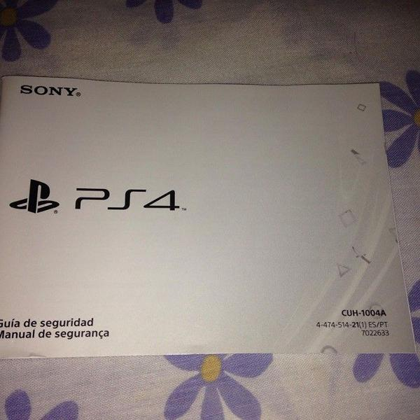 manual playstation 4 sony ps4 cuh-1004a port/esp r$29