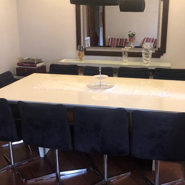 Mesa jantar com 10 cadeiras