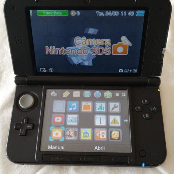 Nintendo 3ds xl preto com 2 jogos