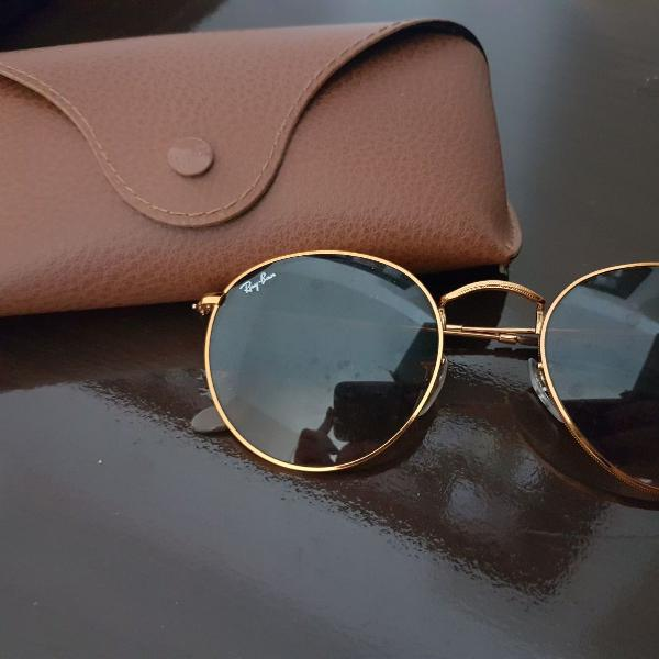 Oculos ray ban round metal feminino