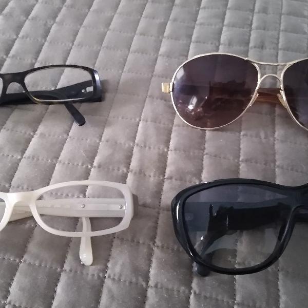 Queima óculos prada, cloe e chanel