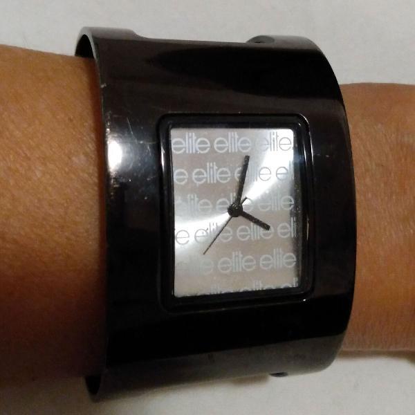 Relógio elite bracelete preto