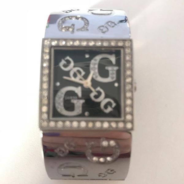 Relógio bracelete guess prata original