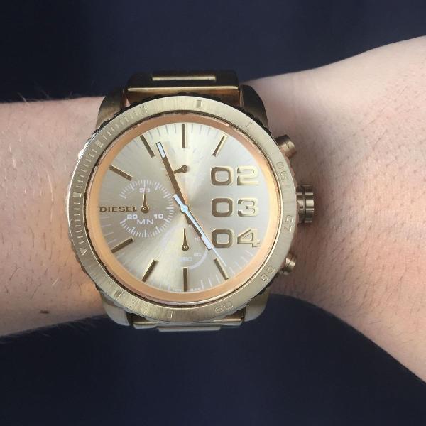 Relógio diesel - dourado - dz-5302 - original