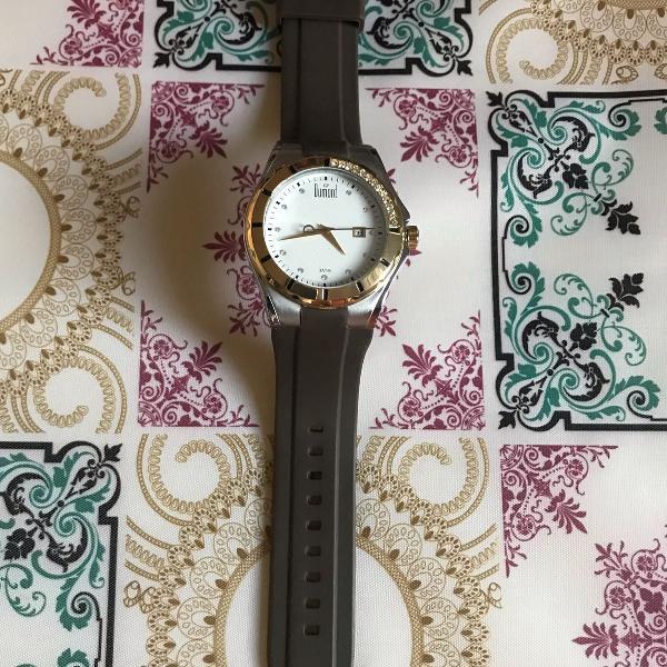 Relógio dumond pulseira marrom