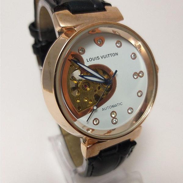 Relógio feminino automático louis vuitton pronta entrega