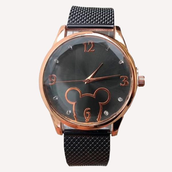 Relógio feminino pulseira luxo moda fashion disney mickey