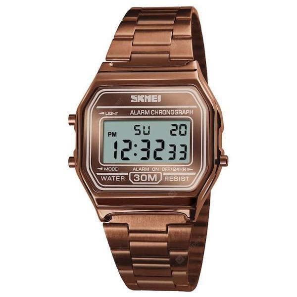 Relógio feminino skmei digital com alarme cronômetro