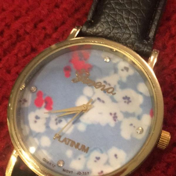 Relógio floral