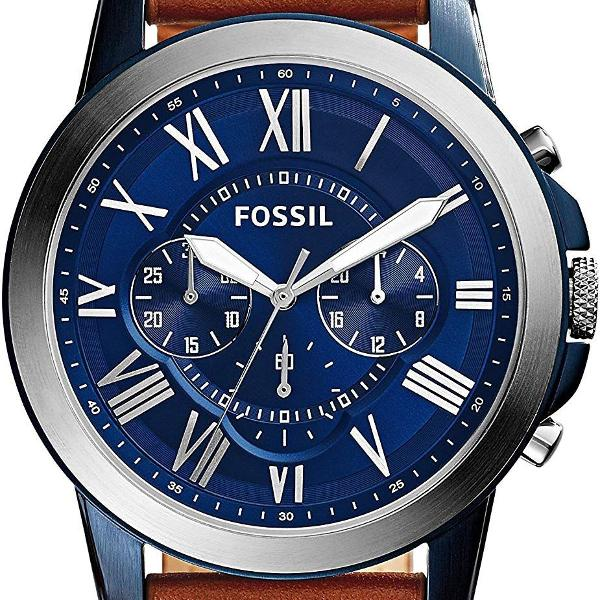Relógio masculino fossil quartz com cronômetro (model: