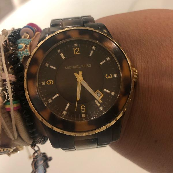 Relógio michael kors original tartaruga mk 5298