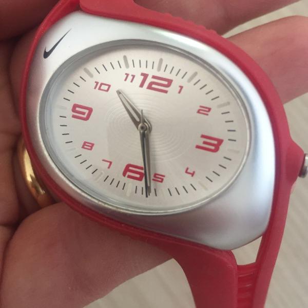 Relógio nike esporte vermelho