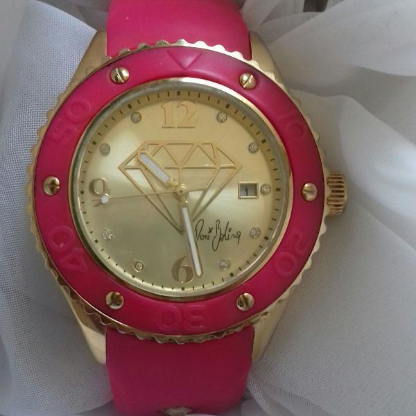 Relógio pink diamond