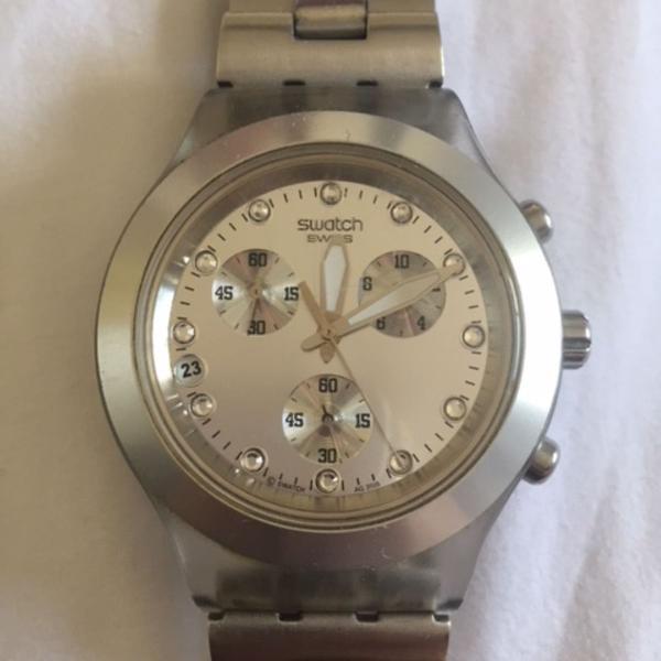 Relógio swatch irony prata