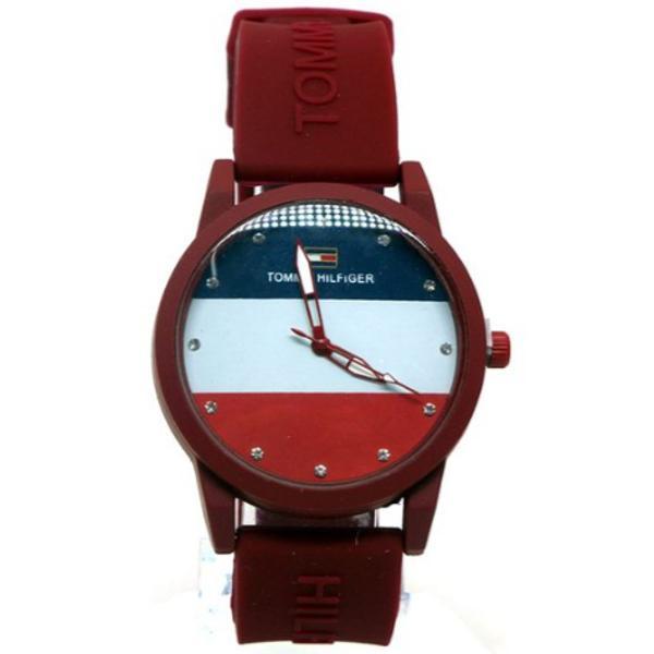 Relógio tommy hilfiger bordô