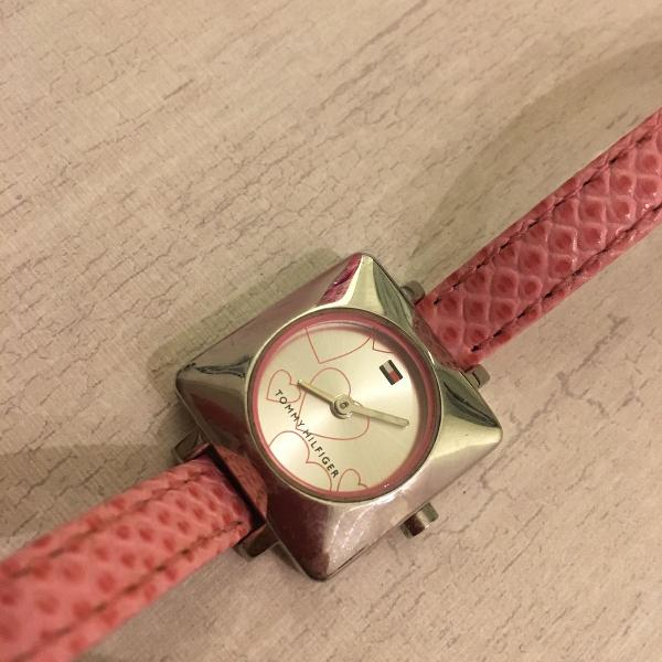 Relógio tommy hilfiger pulseira de couro