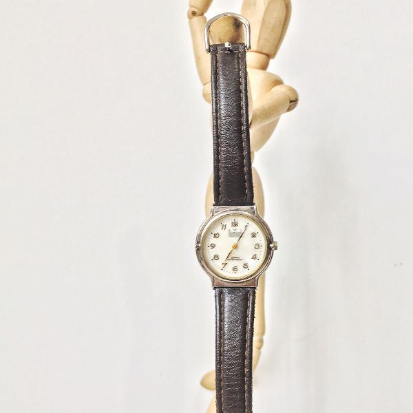 Relógio vintage dumont couro