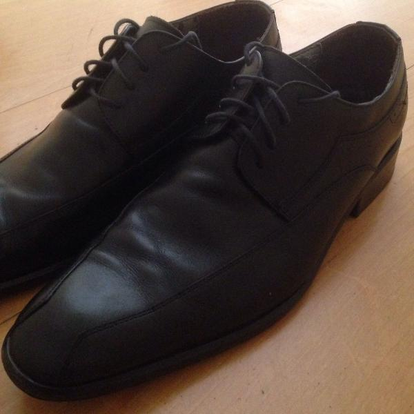 Sapato couro preto cns n 42