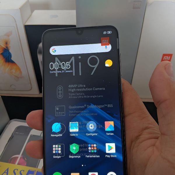 Xiaomi mi9 6gb/64gb preto novo