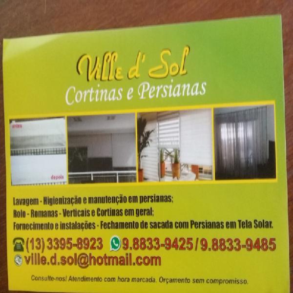 Lavagem e manutenção em persianas e cortinas