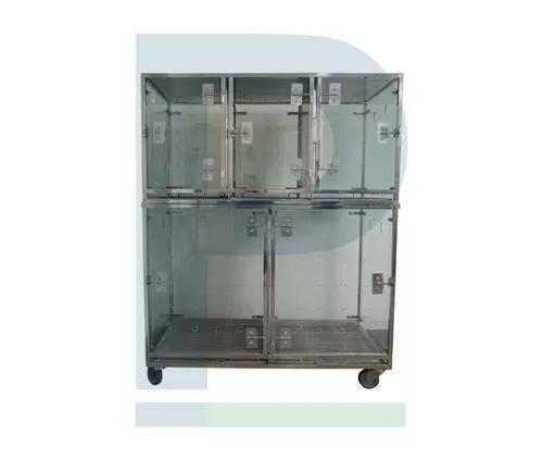 Canil de vidro e inox - 5 animais