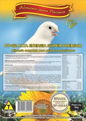 Farinhada pássaros pp-22 alta energia super pr