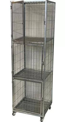 Gaiola canil cães e gatos 3 lugares banho e tosa pet shop