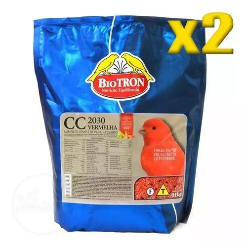 Kit 2 farinhada cc 2030 vermelha 1kg canários com fator
