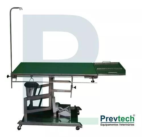 Mesa veterinária pantográfica - com suporte odontológico