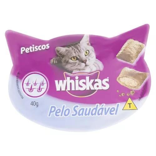 Petiscos para gatos pelo saudável whiskas 40g