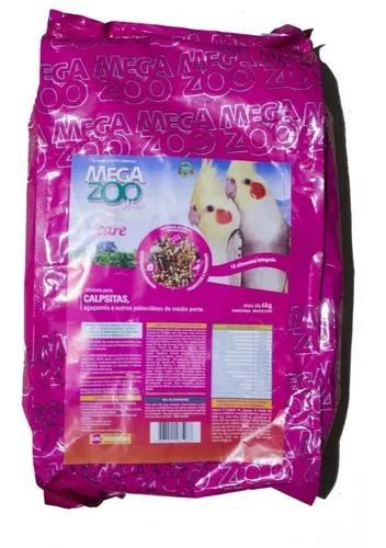 Ração megazoo mix calopsitas com vita care 6kg