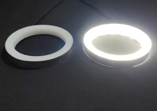 2x aros argola angel eyes led drl para farol