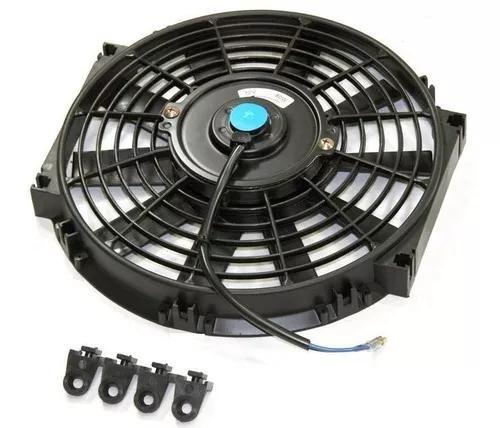 Eletro ventilador ventoinha universal 12 polegada 12v reta