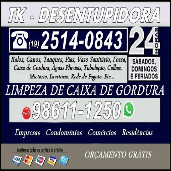 F: (19) 2514-0843 desentupidora 24 horas no jardim guarani
