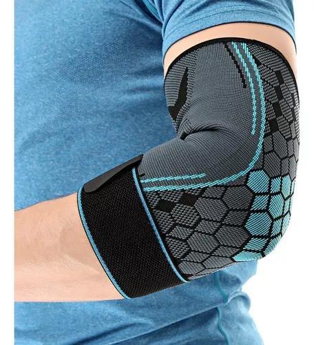 Homens mulheres esportes cotovelo protetor nylon respirável