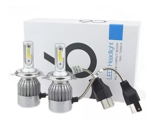 Kit lampada led automotivo h4 6000k 7200lumens super branca