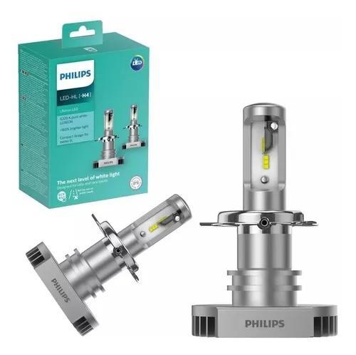 Kit lampada philips led ultinon h4 6200k par +160% luz