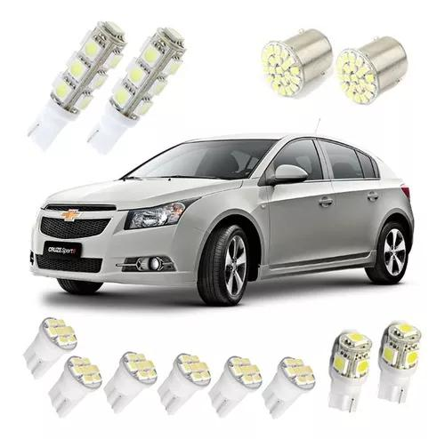 Kit lampadas led cruze sedan hatch farolete teto placa ré