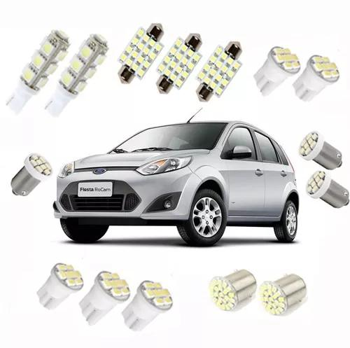 Kit lampadas led ford fiesta/focus teto/ré/placa/farolete