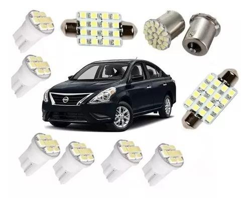 Kit lampadas led nissan versa teto placa farolete ré