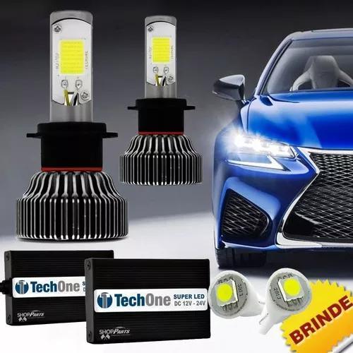 Kit super led tech one h7 6000k 12v e 24v 18w 6000lm brinde
