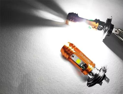 Lampada farol led carro / moto h7 8000k super branco ac / dc