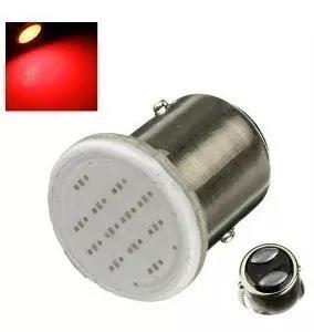Lâmpada 2 polos led cob vermelho lanterna freio frete 10,00