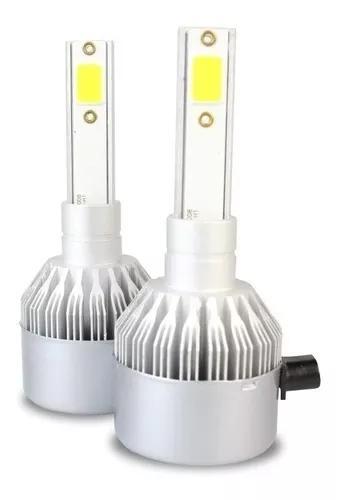Par de lâmpada super led farol h1 6000k xenon 7600 lumens