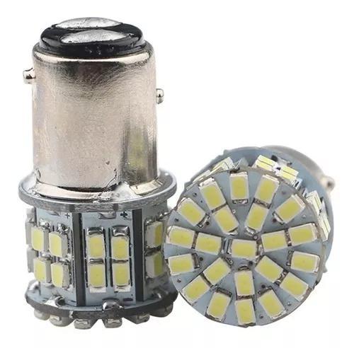 Par lampada lanterna freio traseira 2 polos 50 leds vermelho