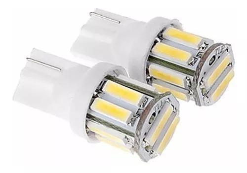 Par lâmpada pingo t10 led 7020 5630 pequena forte carro