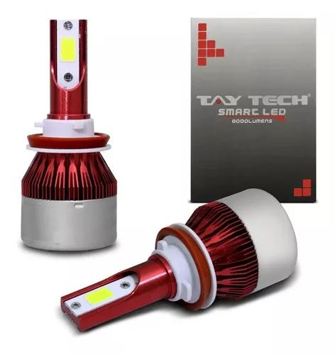 Par lâmpada smart led h1 h3 h4-3 h7 h8 h11 h27 8000lm 6000k