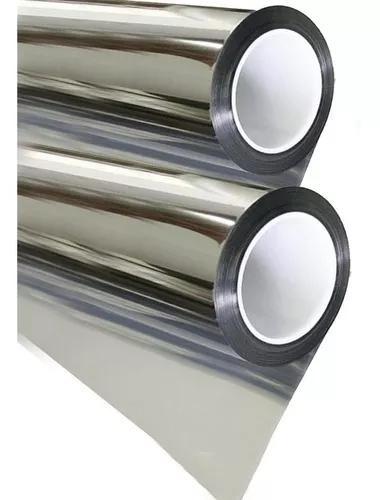 Pelicula solar - insulfilm 51cm x 5m prata 05 espelhado