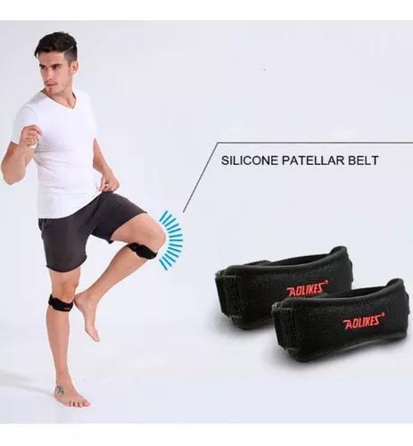 Protetor esportivo fit joelheira cinta patelar faixa joelho